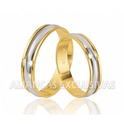Alianças de Casamento Bodas em Ouro 18k - OV/227 - Ouro Vale Joias