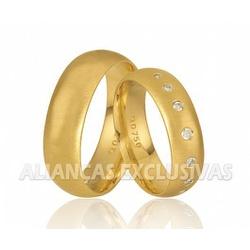Aliança de Noivado e Casamento em Ouro 18k Anatôm... - Ouro Vale Joias
