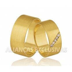 Alianças Grossas de Noivado e Casamento em Ouro 18... - Ouro Vale Joias