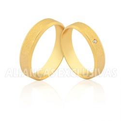 Alianças de Casamento em Ouro 18k Diamantadas - OV... - Ouro Vale Joias