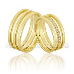 Alianças Exclusivas com Diamantes em Ouro 18k - O... - Ouro Vale Joias