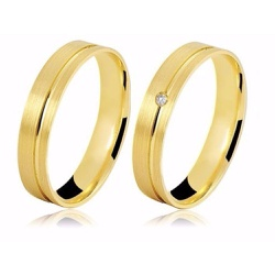 Alianças de Ouro 18k Escovado para Casamento e Noi... - Ouro Vale Joias