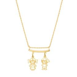 Corrente Cartier com Canga Filhos em Ouro 18k - OV... - Ouro Vale Joias
