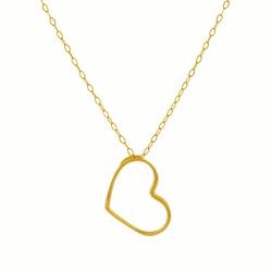 Corrente com Pingente Coração em Ouro 18k - OV/CO1... - Ouro Vale Joias