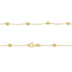 Corrente Veneziana com Bolinhas em Ouro 18k - OV/C... - Ouro Vale Joias