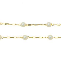 Corrente Cartier com Pérola em Ouro 18k - OV/CO925... - Ouro Vale Joias