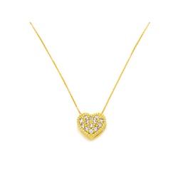 Gargantilha Veneziana de Coração em Ouro 18k - OV/... - Ouro Vale Joias
