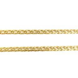 Corrente Groumet Dupla em Ouro 18k - OV/CO450-2 - Ouro Vale Joias