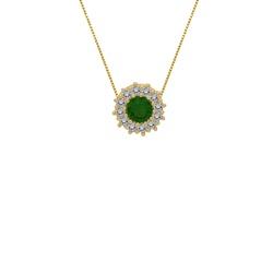 Corrente com Zircônia Verde em Ouro 18k - OV/CO158... - Ouro Vale Joias