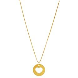 Gargantilha com Pingente Coração Ouro 18k - OV/CO8... - Ouro Vale Joias