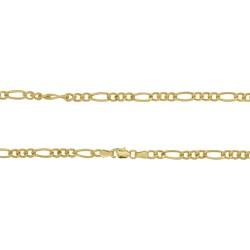 Corrente Groumet 3x1 em Ouro 18k - OV/CO9348-1 - Ouro Vale Joias