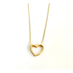 Gargantilha de Coração em Ouro 18k - OV/CO1207-1 - Ouro Vale Joias
