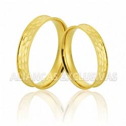 Aliança em Ouro 18K Escovado Fosca - OV/780 - Ouro Vale Joias