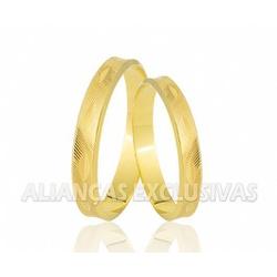 Aliança Fina Diamantada em Ouro 18k - OV/179 - Ouro Vale Joias