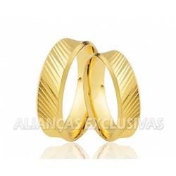 Alianças Trabalhadas de Noivado e Casamento em Our... - Ouro Vale Joias