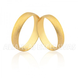 Aliança Tradicional Diamantada - Ouro 18k - OV/18... - Ouro Vale Joias