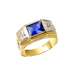 Anel de Formatura em Ouro 18k - OV/AN001N - Ouro Vale Joias