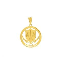 Pingente de Formatura Direito em Ouro 18k - OV/P1... - Ouro Vale Joias
