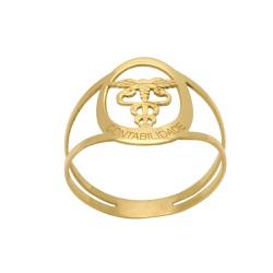 Anel de Formatura em Ouro 18k - OV/AN16249 - Ouro Vale Joias