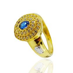 Anel de Formatura em Ouro 18k com Pedra Oval - OV/... - Ouro Vale Joias