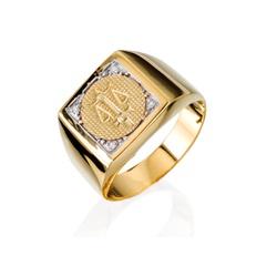 Anel de Formatura em Ouro 18k - OV/AN789F - Ouro Vale Joias