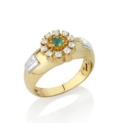 Anel de Formatura em Ouro 18k com Diamantes - OV/A... - Ouro Vale Joias