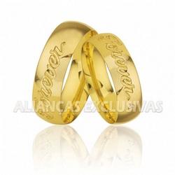 Alianças Grossas FOREVER em Ouro 18k - OV/160 - Ouro Vale Joias