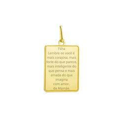 Pingente Placa com Escrita Ouro 18k - OV/ Placa-Es... - Ouro Vale Joias