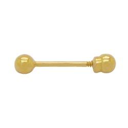 Piercing Palito Ouro 18k - OV/PIR12018-1 - Ouro Vale Joias