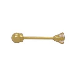 Piercing de Orelha com Pedra em Ouro 18k - OV/PIR1... - Ouro Vale Joias