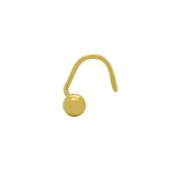 Piercing Bola de Nariz em Ouro 18k - OV/PIR12321-1 - Ouro Vale Joias