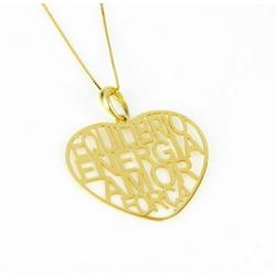 Pingente Coração em Ouro 18k - OV/P935-1 - Ouro Vale Joias