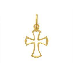Pingente Cruz Vazada em Ouro 18k - OV/P7471-1 - Ouro Vale Joias