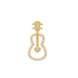 Pingente Violão Ouro 18k - OV/P20380-1 - Ouro Vale Joias