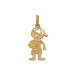 Pingente de Menino em Ouro 18k - OV/P10663 - Ouro Vale Joias