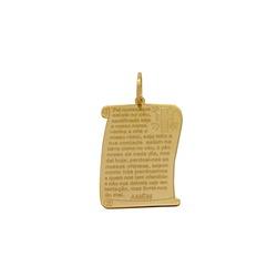 Pingente Pai Nosso em Ouro 18k - OV/P11177 - Ouro Vale Joias
