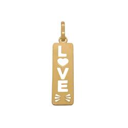Pingente Placa LOVE em Ouro 18k - OV/P11970-1 - Ouro Vale Joias