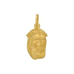 Pingente Face de Cristo em Ouro 18k - OV/P12483-1 - Ouro Vale Joias