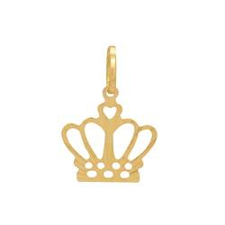 Pingente Coroa Ouro 18k - OV/P13492-1 - Ouro Vale Joias