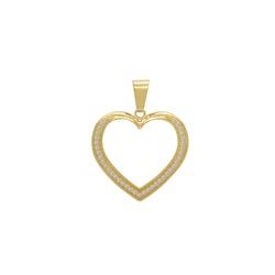 Pingente Coração Vazado Ouro 18k - OV/P14811-1 - Ouro Vale Joias