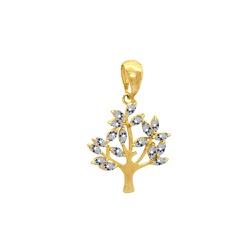 Pingente Árvore e Folhas em Ouro 18k - OV/P15778 - Ouro Vale Joias