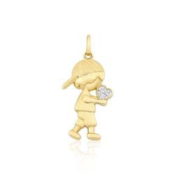 Pingente de Menino em Ouro 18k - OV/P932-1 - Ouro Vale Joias