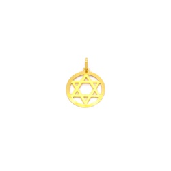 Pingente Estrela de Davi em Ouro 18k - OV/P8299 - Ouro Vale Joias
