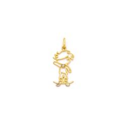 Pingente de Menino em Ouro 18K - OV/P7101 - Ouro Vale Joias