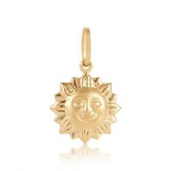 Pingente de Sol em Ouro 18k - OV/P917-1 - Ouro Vale Joias