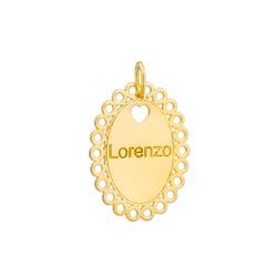 Pingente Nome Personalizado Ouro 18k - OV/P30 - Ouro Vale Joias