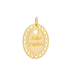 Pingente Nome Personalizado Ouro 18k - OV/P29 - Ouro Vale Joias