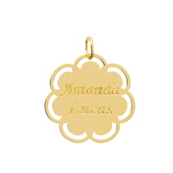 Pingente Nomes Personalizado Ouro 18k - OV/P10 - Ouro Vale Joias