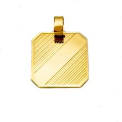 Pingente Placa em Ouro 18k - OV/P148 - Ouro Vale Joias