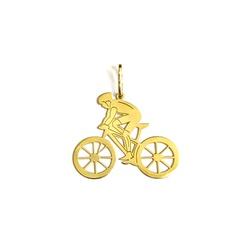 Pingente Ciclista em Ouro 18k - OV/P999-1 - Ouro Vale Joias